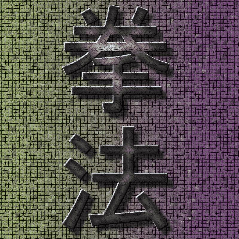 Japanische Kempo Karate Schriftzeichen