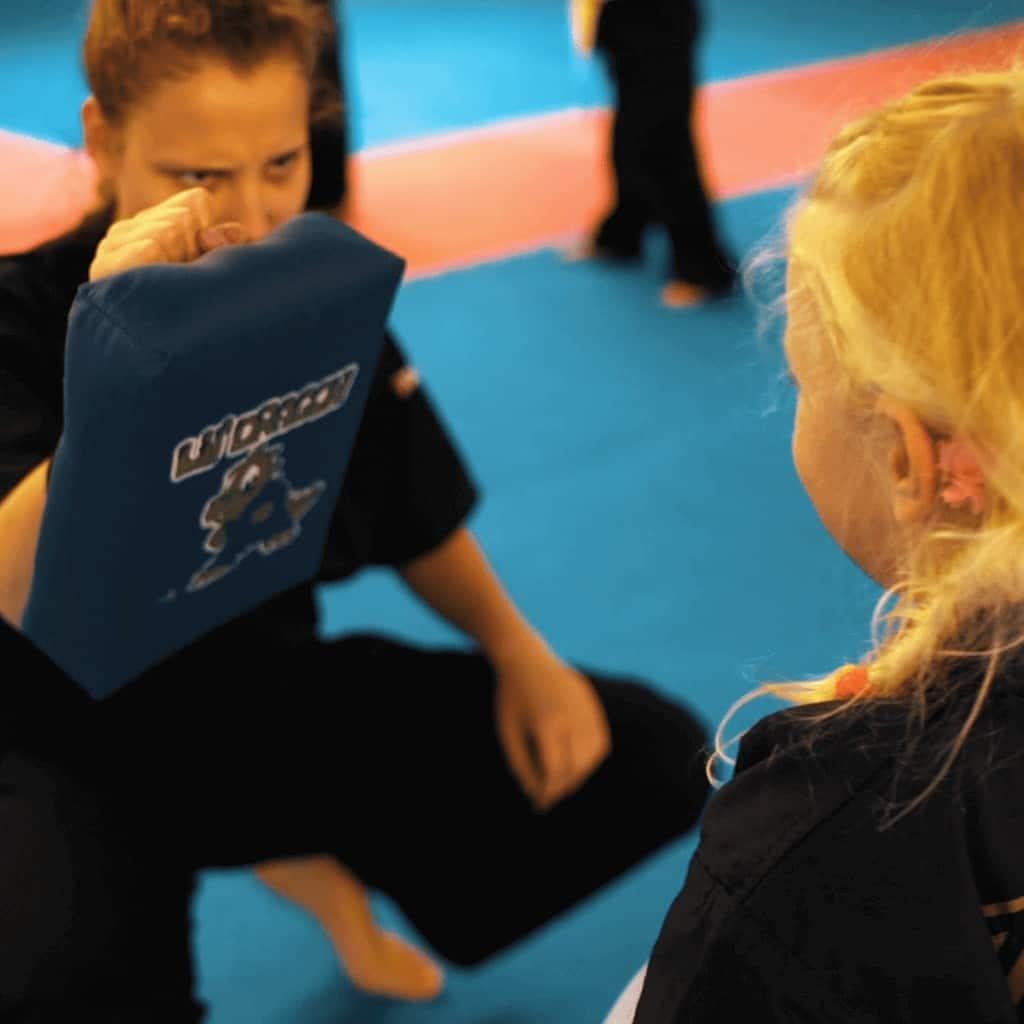 Karate Technik am LilDragon Polster
