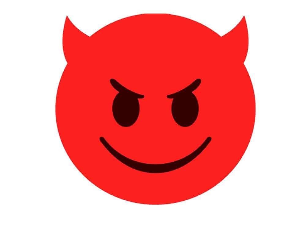 teufel emoji was grinst