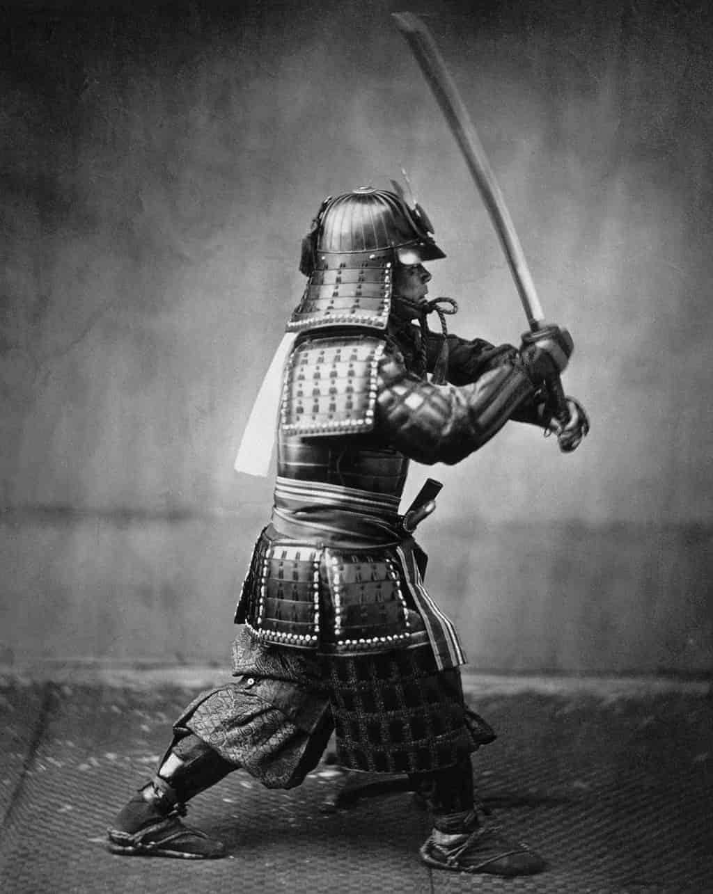 Samurai schwarz weiss