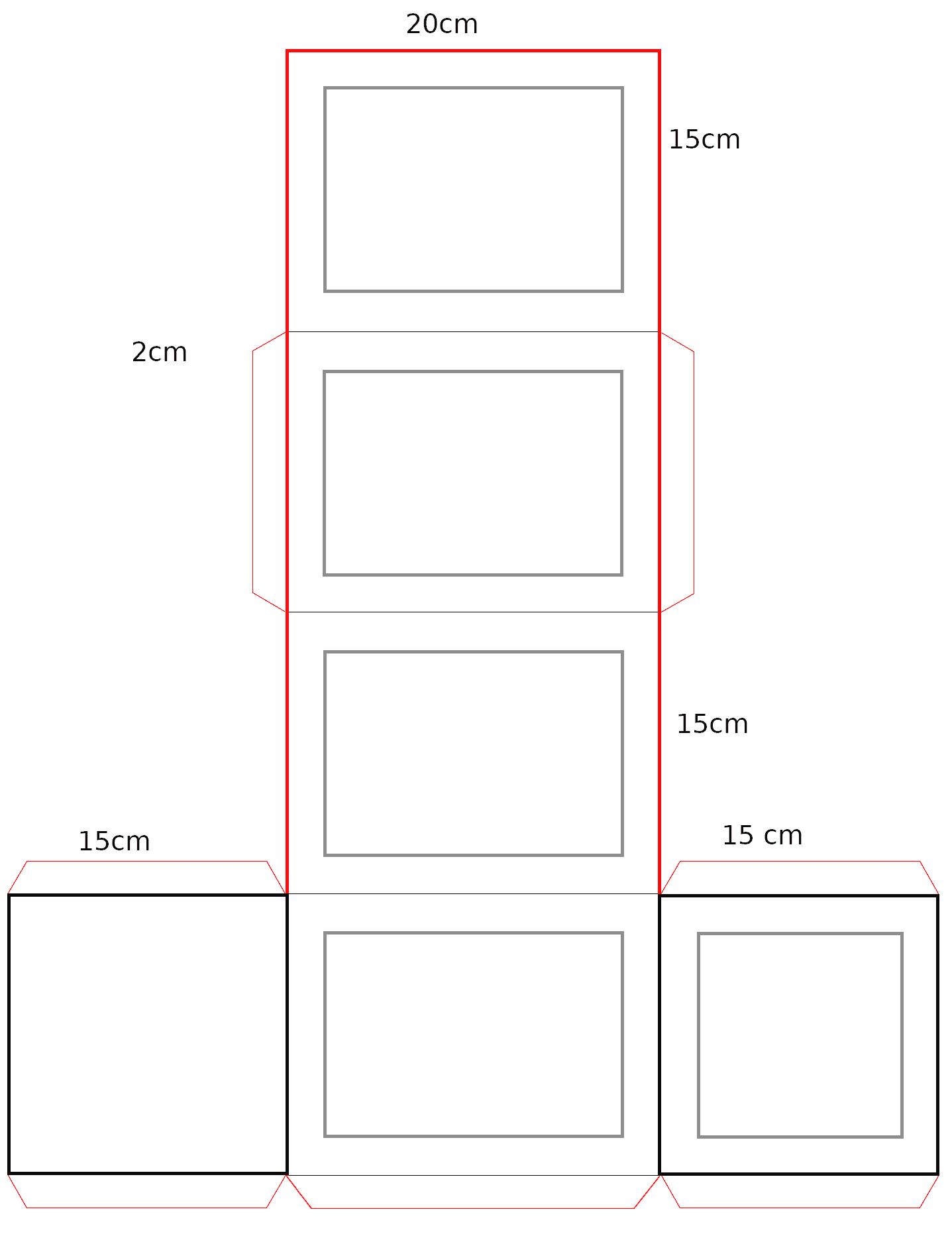 Maße der Laterne
